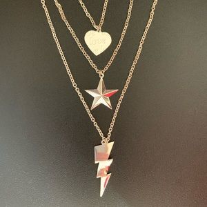 🆕 Heart Star Lightning triple layered necklace